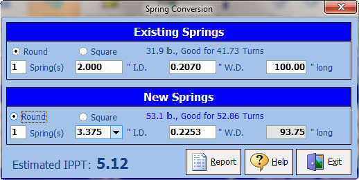 Torsion Spring Calculator for Rolling Doors - Sarotech Inc